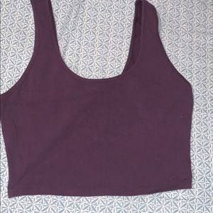 Crop top with cut out in the back